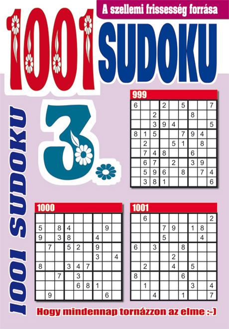 Kiadvány - 1001 Sudoku könyv