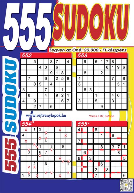 Kiadvány - 555 Sudoku