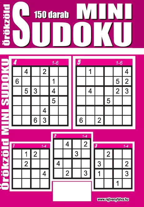 Kiadvány - Örökzöld mini Sudoku