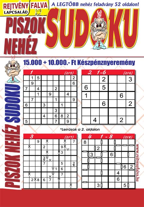 Kiadvány - Piszok Nehéz Sudoku
