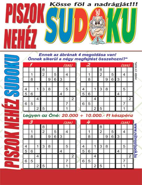 Piszok Nehéz Sudoku